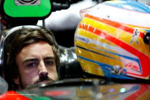 2015 F1 Pre Season Test 2 - Day 2 Circuit de Catalunya, Barcelona, Spain. Friday 20 February 2015. Fernando Alonso, McLaren, in the garage. World Copyright: Alastair Staley/LAT Photographic. ref: Digital Image _79P3820